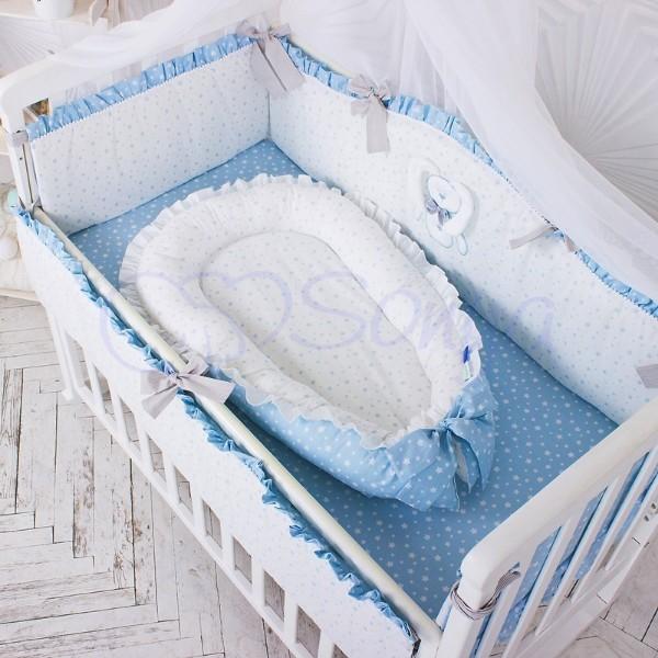 Кокон-гнездышко для новорожденных на выписку (много моделей) фото №19