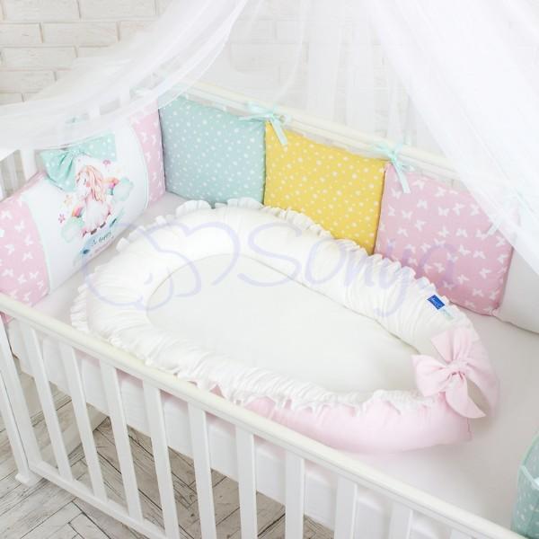 Кокон-гнездышко для новорожденных на выписку (много моделей) фото №2