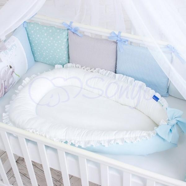 Кокон-гнездышко для новорожденных на выписку (много моделей) фото №3