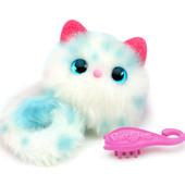 Pomsies Интерактивная кошечка Снежа бело-голубой pet kitten snowball 01951-sn
