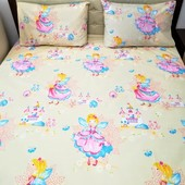 Милый и нежный постельный комплект в детскую кроватку! Отличное качество!