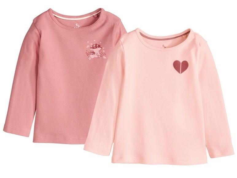 Комплект: две очаровательные футболки на девочку от lupilu. фото №1