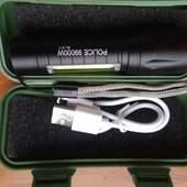 Тактический,светодиодный фонарь,фонарик bl-511 с usb зарядкой,zoom