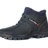 Ботинки зимние мужские теплые эко-нубук (РЛБ-4ч)