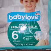 Подгузники Baby Love Premium Windeln Германия 6+(17-32кг)21шт.в остатке