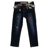 Низкая цена- супер качество!Теплые джинсы для девочки Венгрия