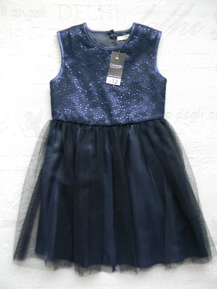 Нарядное фатиновое платье  george на 5-6 лет. фото №1