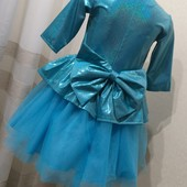 Новогоднее нарядное платье Бантик в ассортименте от производителя 104-128