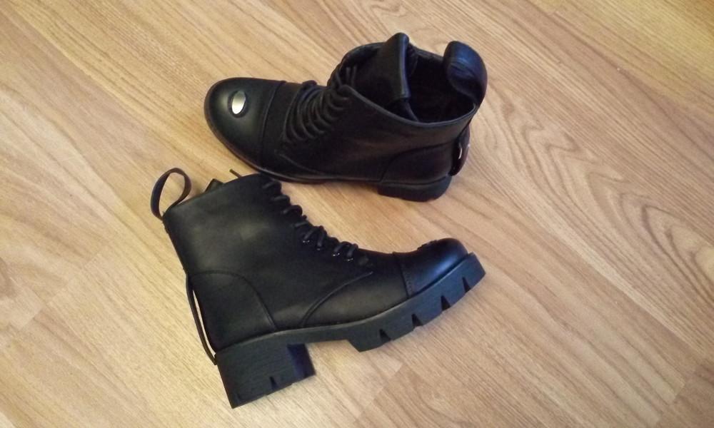 Черные зимние ботинки фото №2