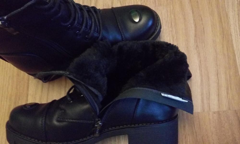 Черные зимние ботинки фото №7
