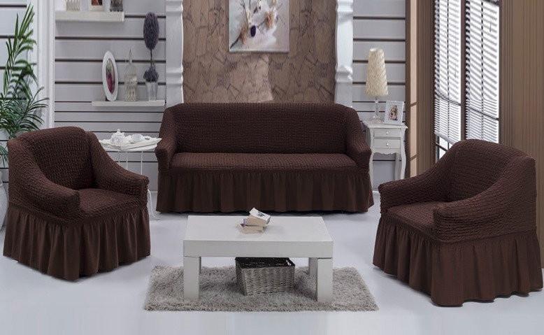 Чехол для дивана и два кресла фото №1
