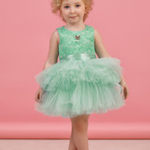 Платье для девочки Бирюза юбка фатин размер 98,104 тм зіронька