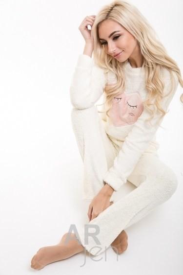 Теплая махровая пижама, комплект для дома фото №1
