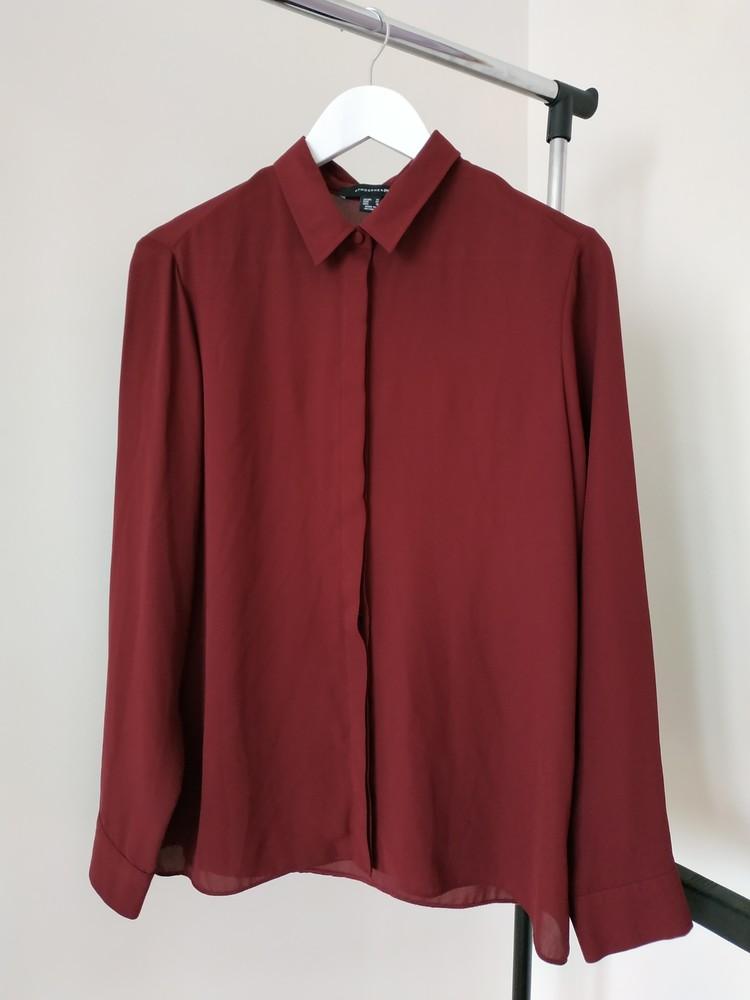 L новая женская блуза бордовая фото №1
