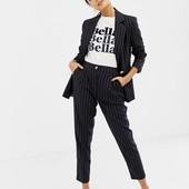 14 UK новые женские брюки в полоску высокая талия