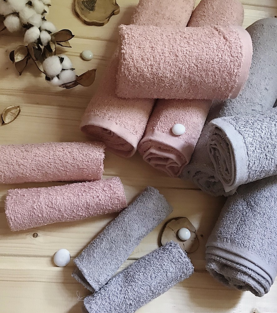 Махровое полотенце  5шт пакистан серые фото №1
