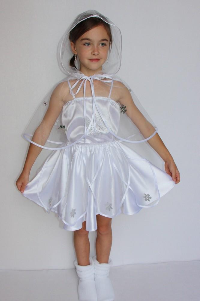 Снежинка,новогодний, карнавальный костюм для девочки в трех вариантах. фото №1