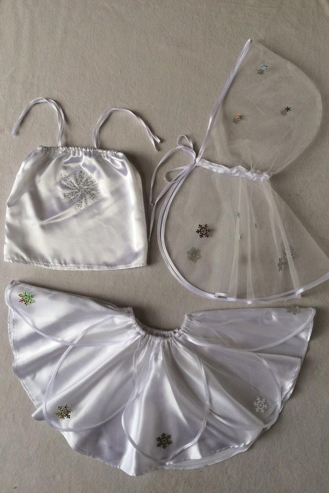 Снежинка,новогодний, карнавальный костюм для девочки в трех вариантах. фото №4