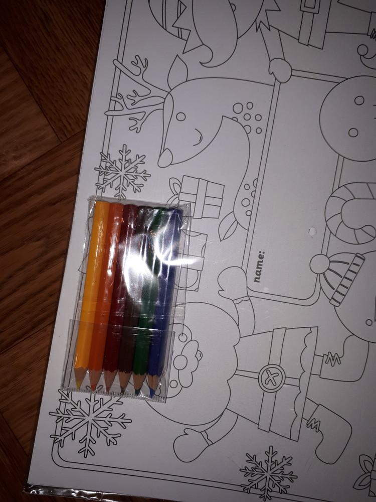 Набор для творчества новогодние открытки elc раскраска с карандашами фото №2