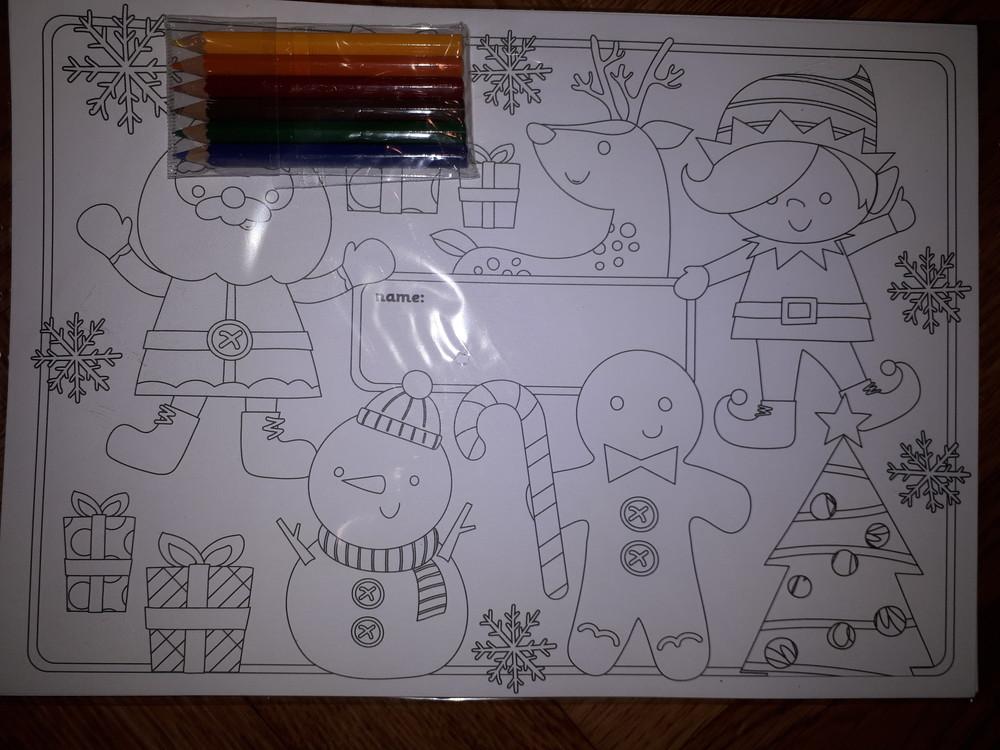 Набор для творчества новогодние открытки elc раскраска с карандашами фото №3