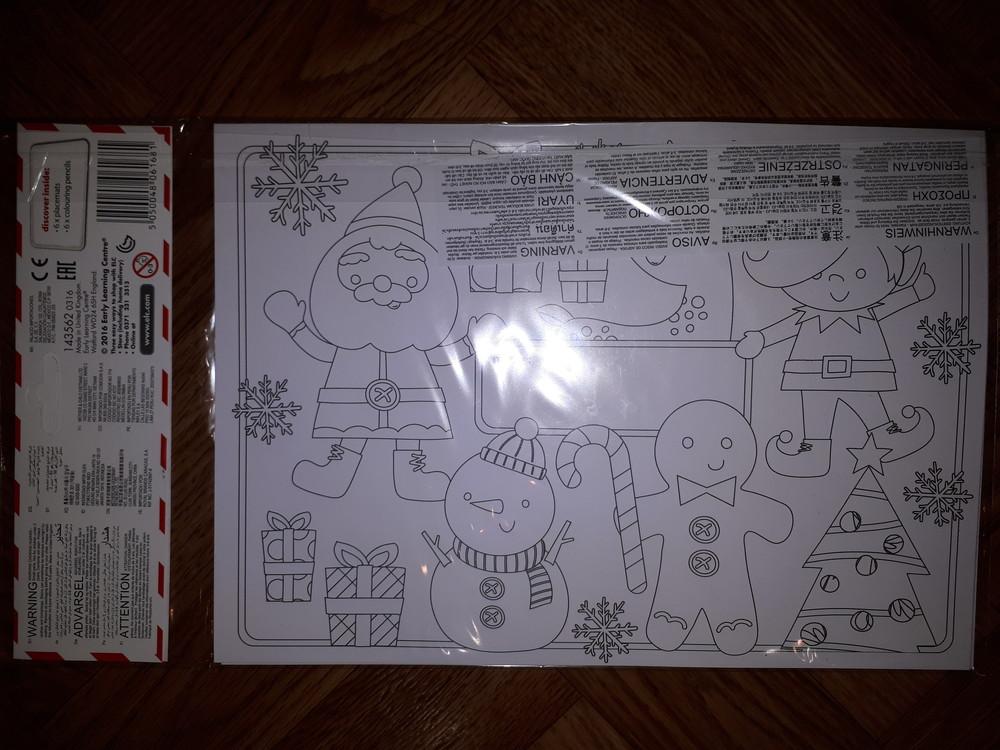 Набор для творчества новогодние открытки elc раскраска с карандашами фото №4