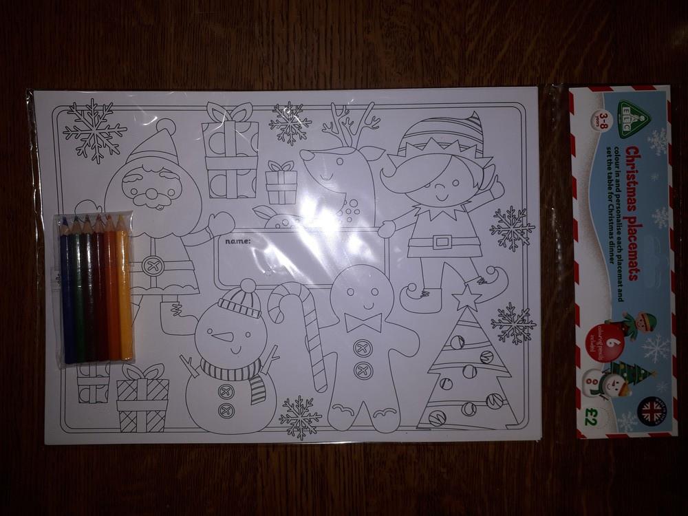 Набор для творчества новогодние открытки elc раскраска с карандашами фото №1