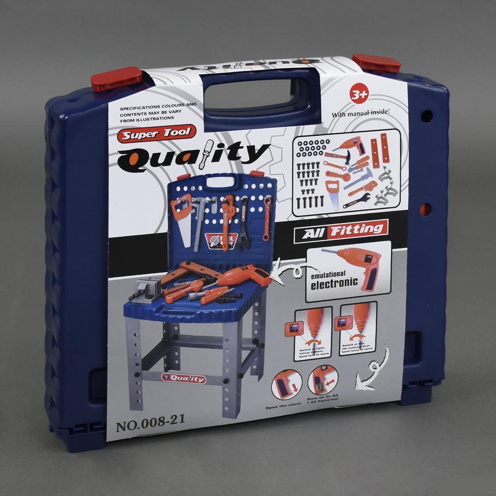 Набор инструментов 008-21 игровой в чемодане super tool quality фото №1