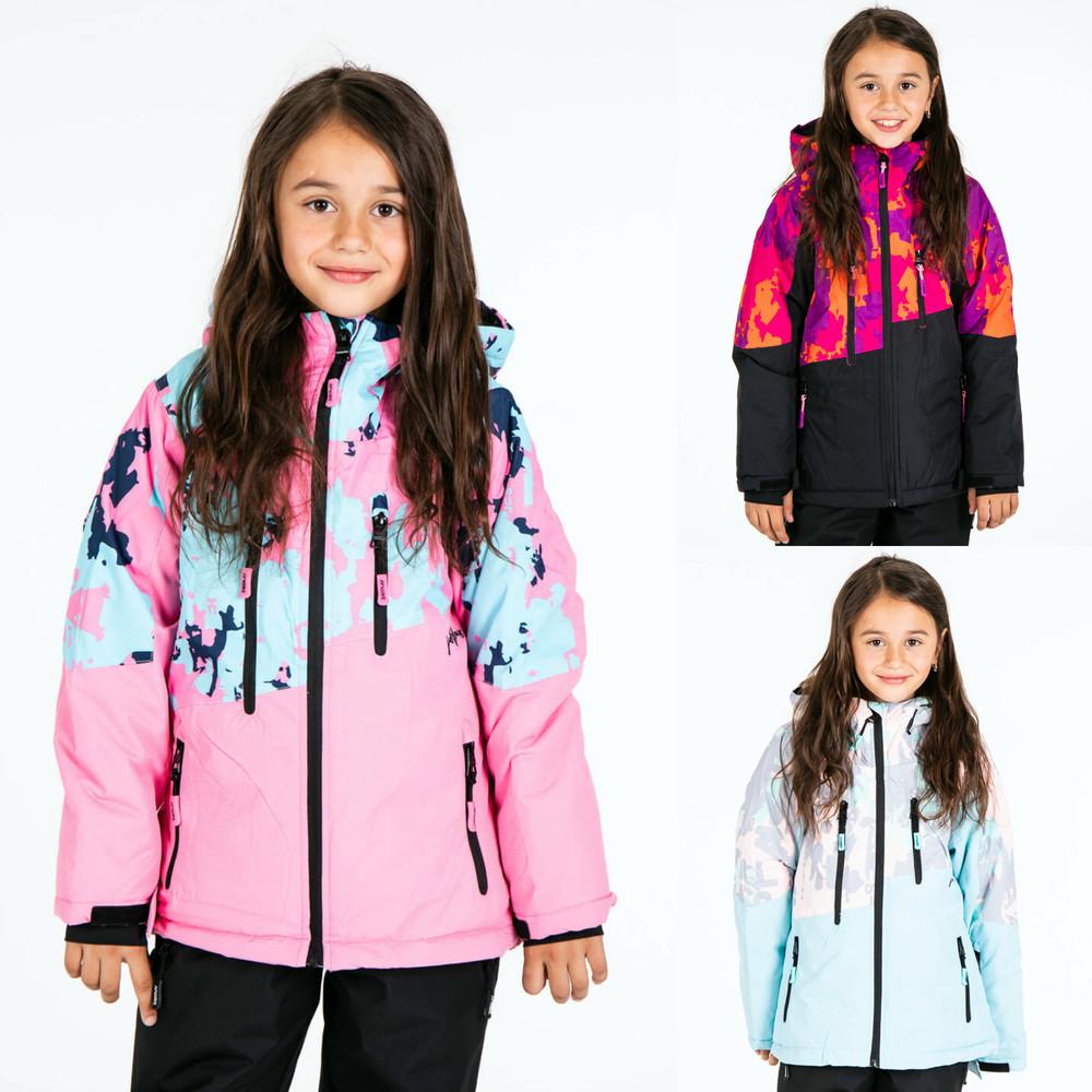Зимняя горнолыжная термо куртка для девочки just play 128-170 фото №1