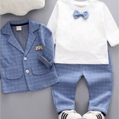 Мега крутой костюм 2 цвета тройка. Брюки,пиджак и реглан. Серый и голубой