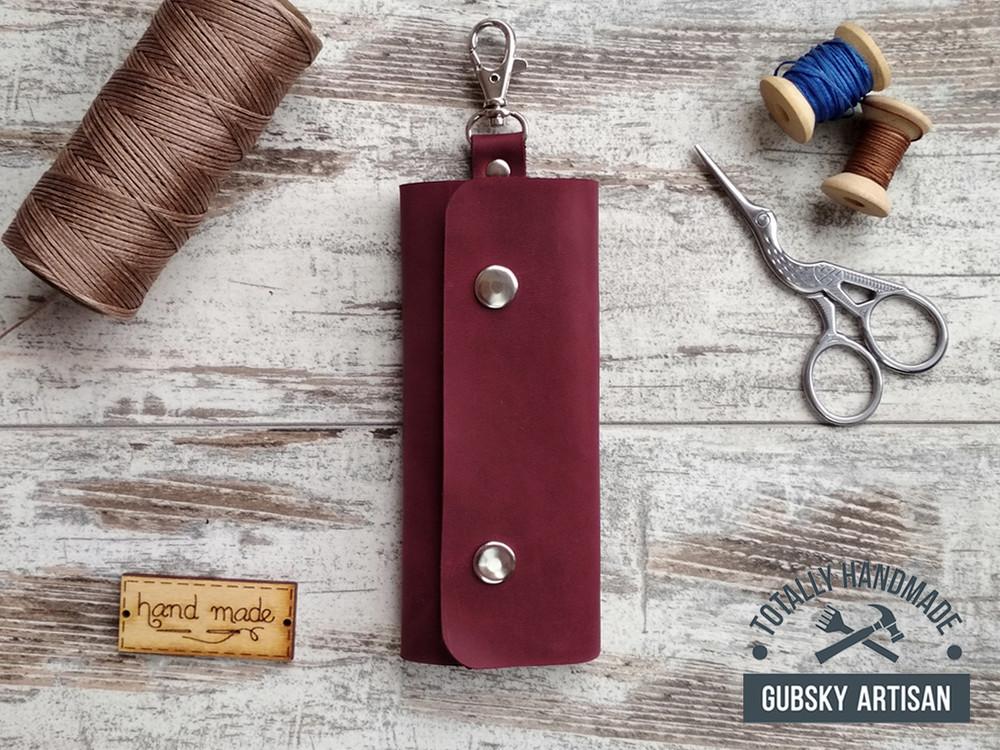 Ключница чехол для ключей 11 цветов натуральная кожа!!! фото №1