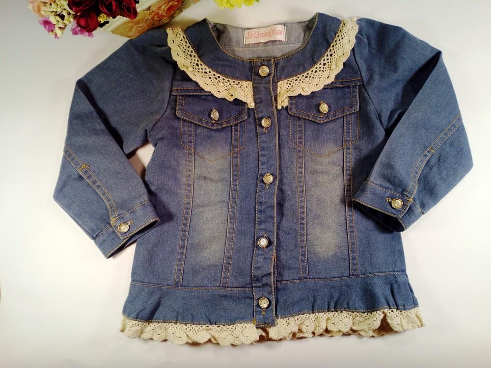 Джинсовый пиджак на девочку на 2-4 года фото №1