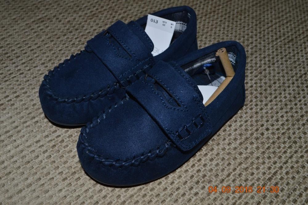 Нові стильні туфлі (тапочки) next для хлопців розм. 6ка (23) в наявності фото №1