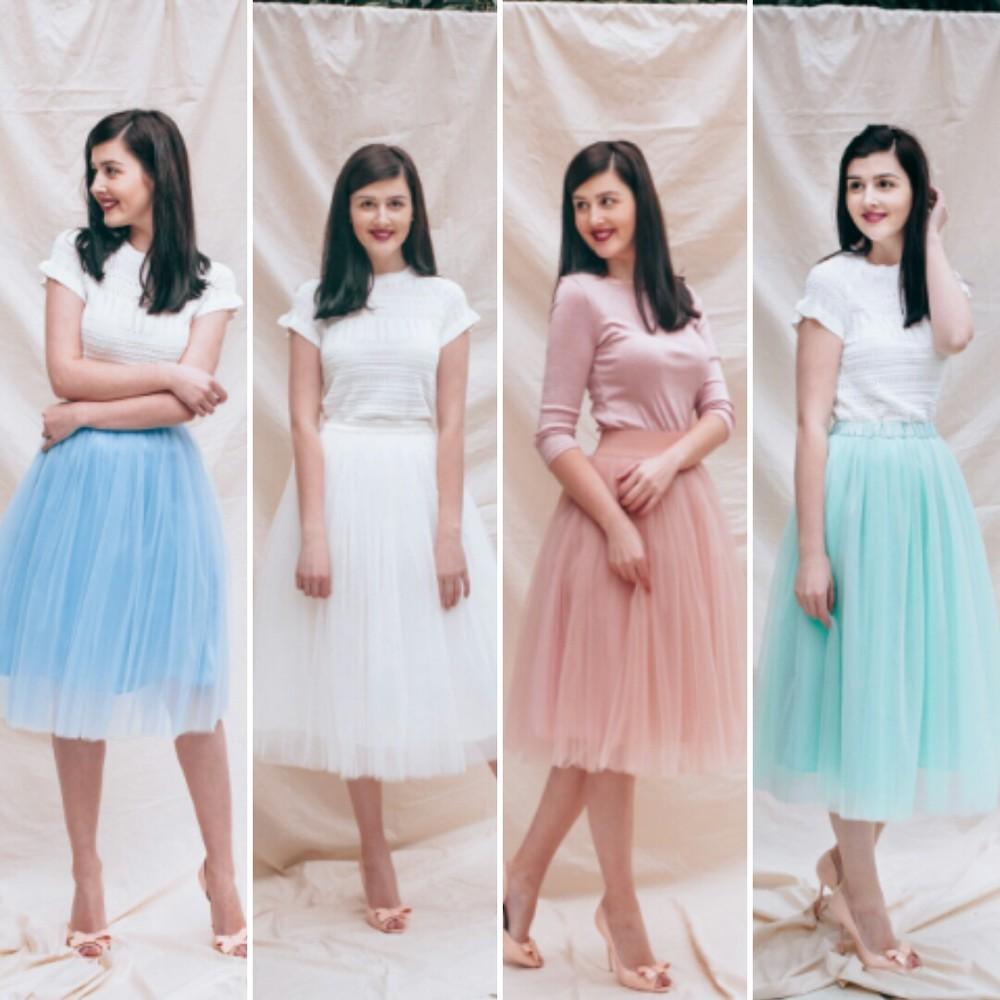Пышная нарядная женская юбка из фатина или евросетки фото №1