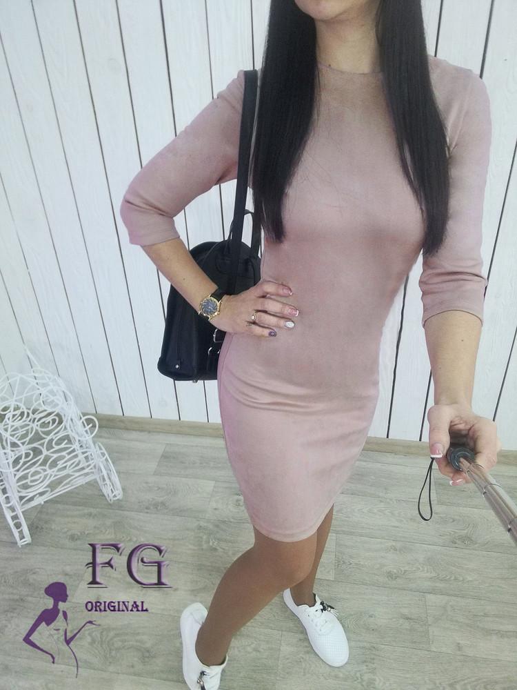 Женское платье из замши фото №1