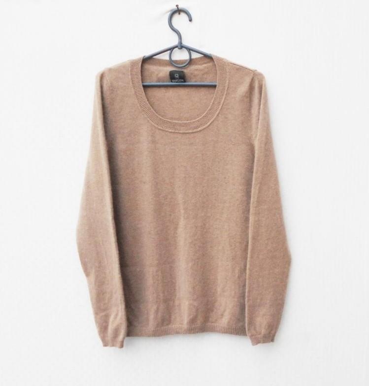 Шикарный кашемировый осенний зимний мягкий свитер с длинным рукавом фото №1
