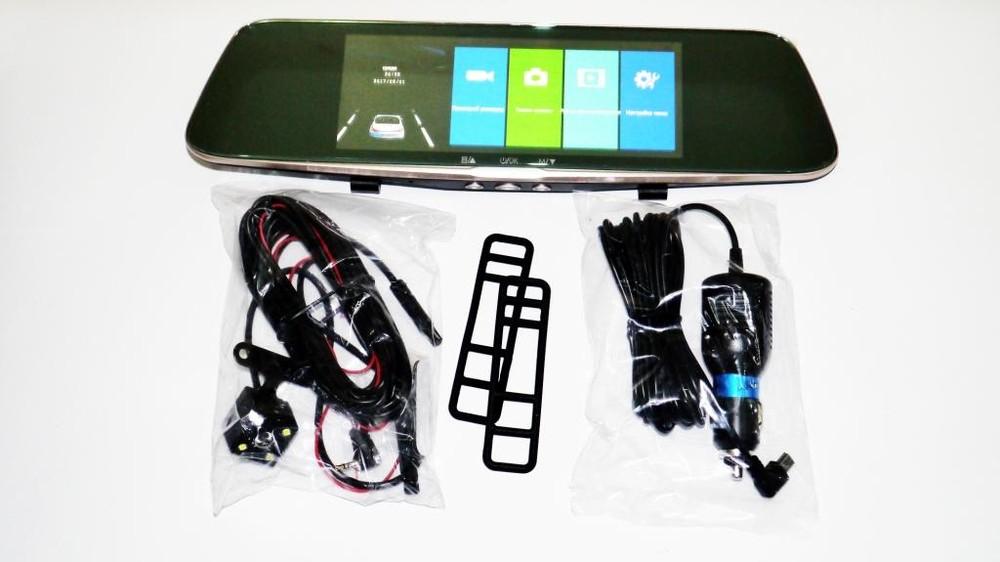 Dvr l1002с full hd зеркало с видео регистратором с камерой заднего вида фото №1