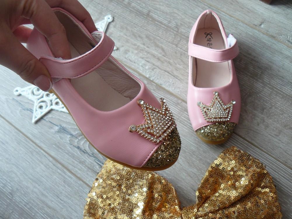 de8312086 Красивые туфли корона золотые. розовые. черные р 21-35, цена 290 грн ...