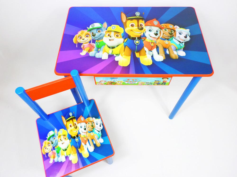 """Комплект """"щенячий патруль"""" (стол и стул от2 до7 лет) парта стол фото №1"""