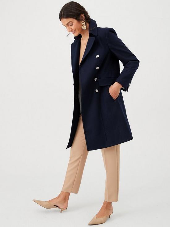 Новое фирменное пальто-шинель королевский синий (l) англия фото №1