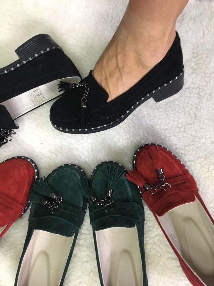 Туфли кожа/замша каблук 4,6,8 или 9 см . разные цвета . фото №1