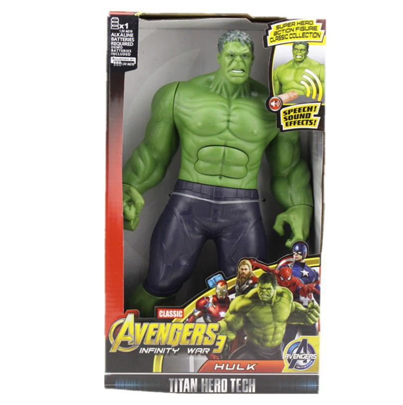 Фигурка супер героя халк / hulk марвел- мстители большая 30 см ( свет, музика ) отличное качество ! фото №1