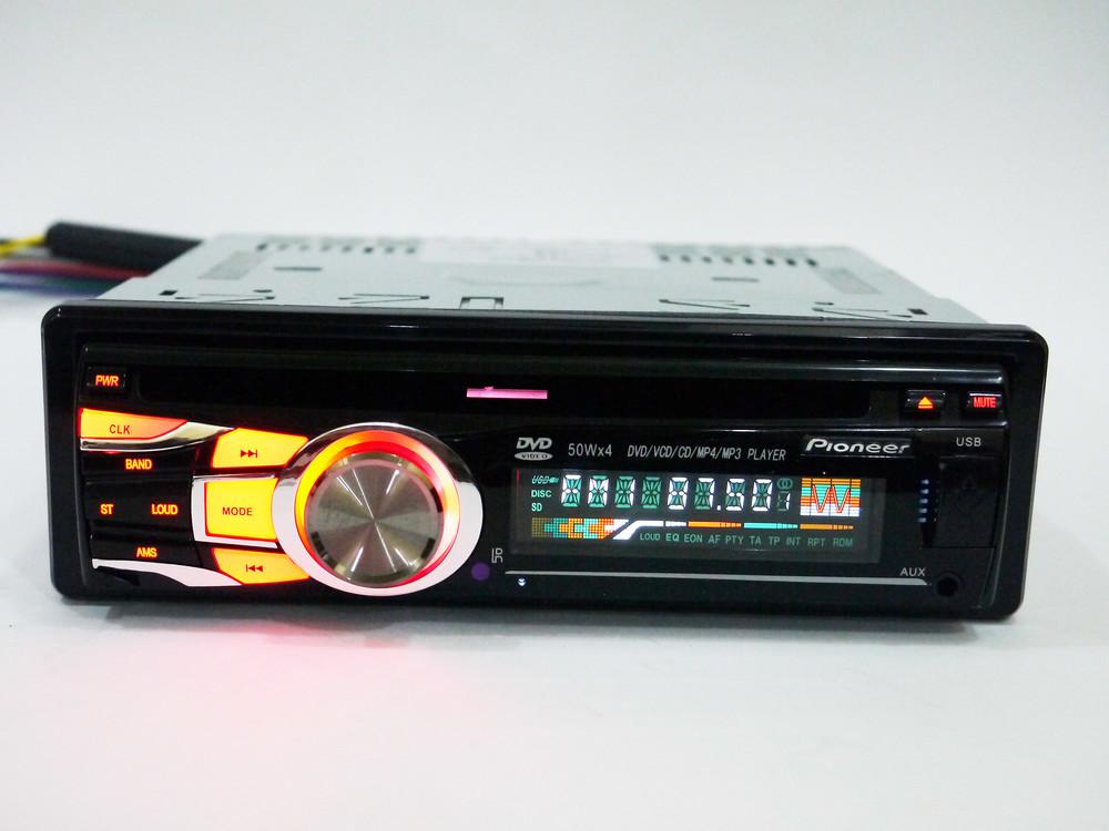 Автомагнитола dvd pioneer 3218 usb+sd+mmc съемная панель фото №1