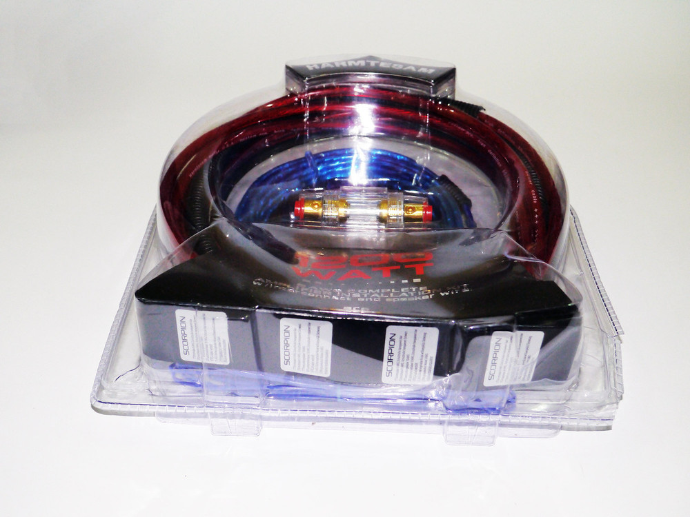 Набор проводов для усилителя / сабвуфера 1200w фото №1