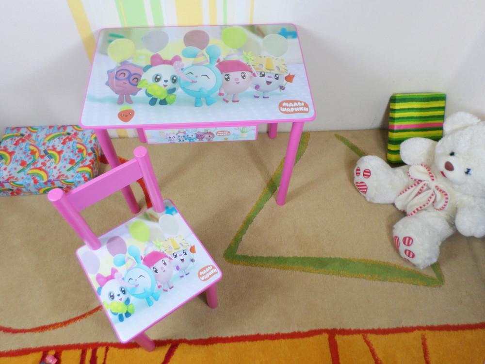 """Детский стол парта стул """"малышарики"""" столик и стул +ящик фото №1"""