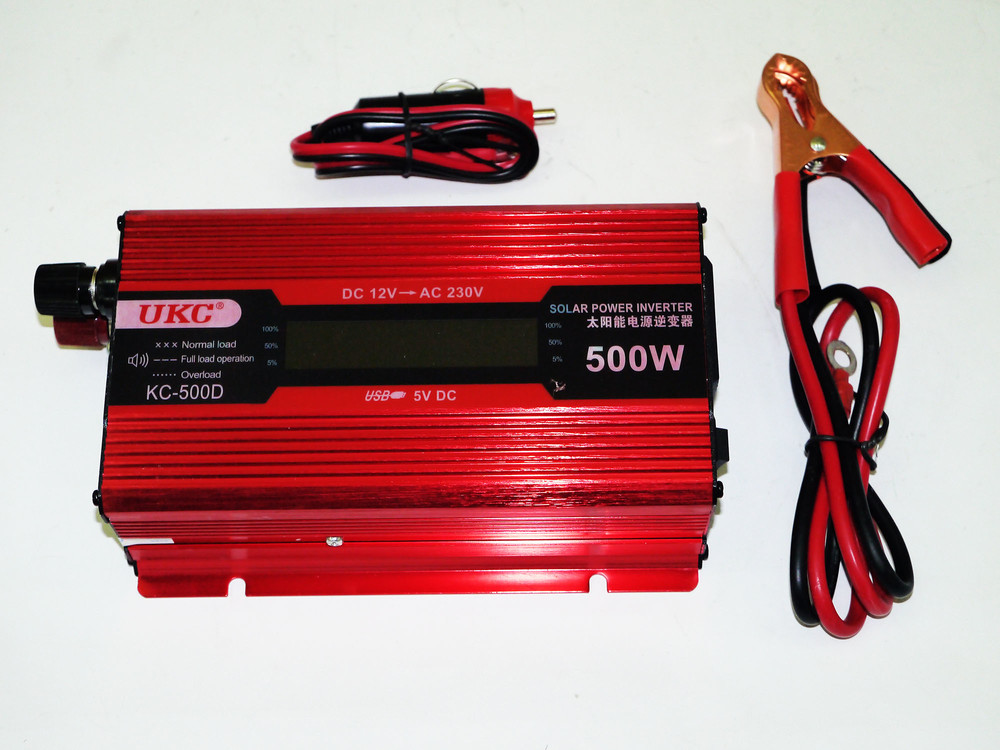 Инвертор ukc 500w kc-500d с экраном фото №1