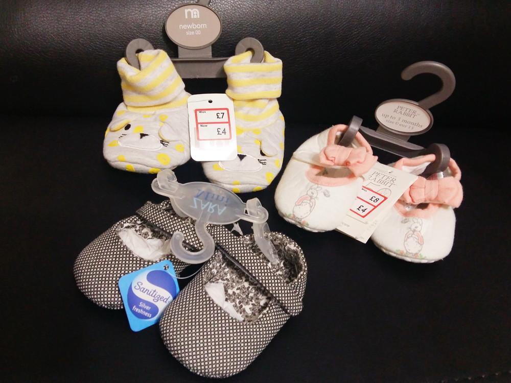 Пинетки для новорожденных mothercare фото №1