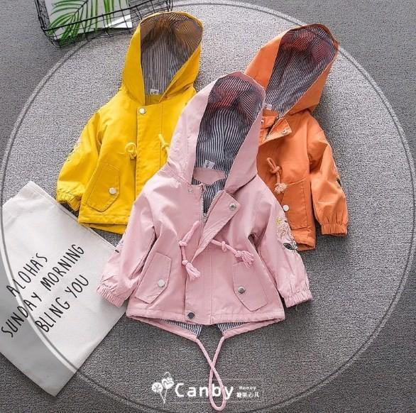 Котоновая ветровка на девочку детская парка летняя куртка для девочки 410117 фото №1
