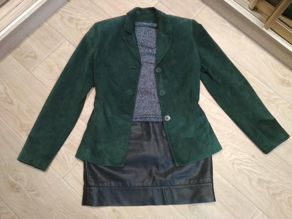Стильный замшевый пиджачок 44-46р. фото №1