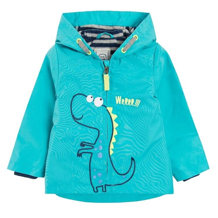 Детская ветровка на мальчика на 1 годик 74см и 80см яркая с динозавриком фото №1