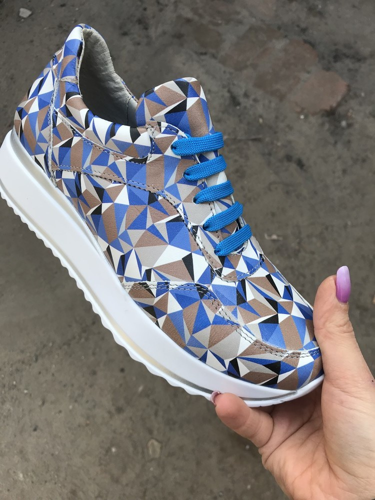 Кроссовки женские синие фото №1